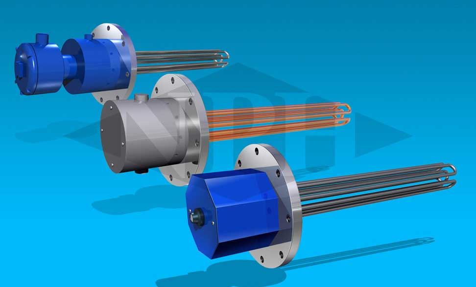 Custom Industrial Process/Tank Heaters-Flanged Immersion Heaters