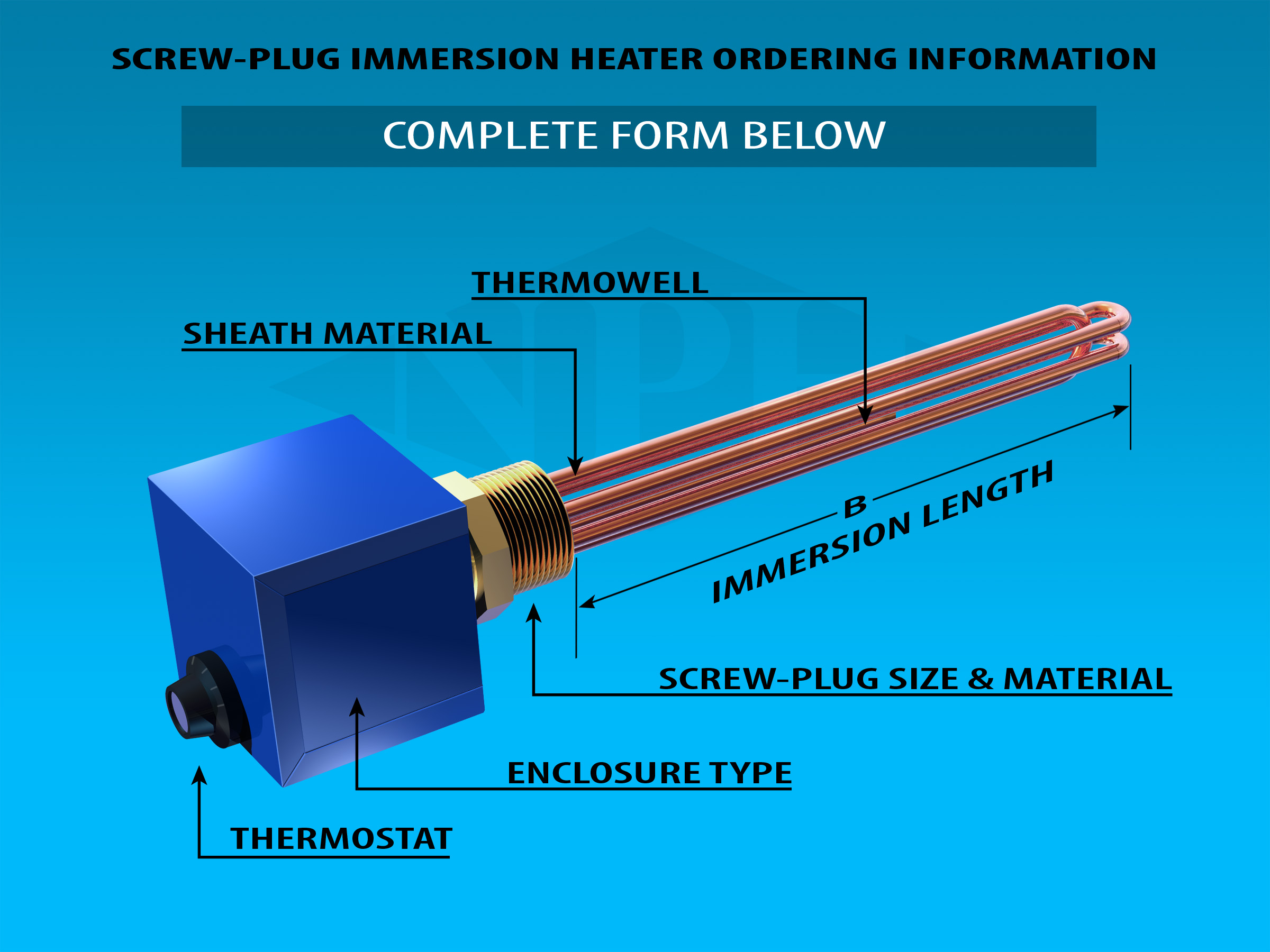 Construction Components-Screw Plug Immersion Hetaers